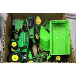 BOX OF JOHN DEER DIECAST TOYS