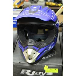 RJAYS MOTOCROSS HELMET, NEW YOUTH XL BLUE/L BLUE
