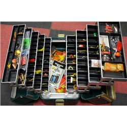 LARGE TACKLE BOX W CONTENTS