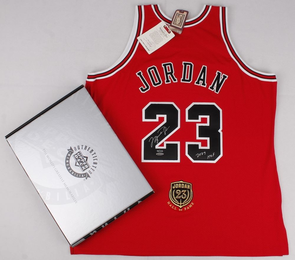 on sale acdec fb7ab Michael Jordan Signed Limited Edition Authentic Mitchell ...