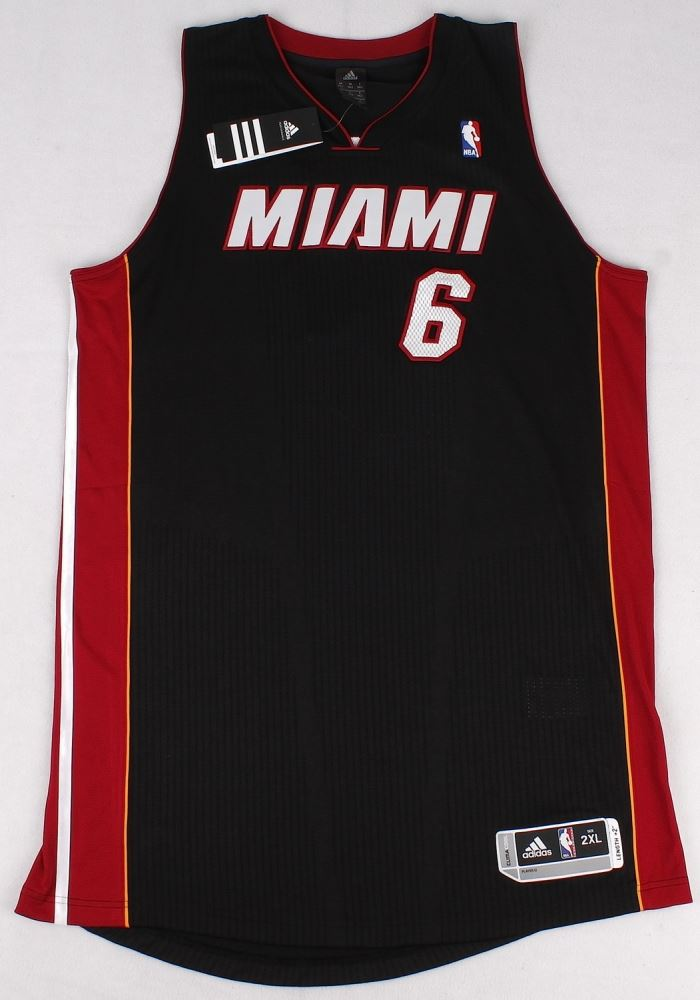 brand new 5a301 5afef LeBron James Signed Miami Heat Authentic Adidas Away ...