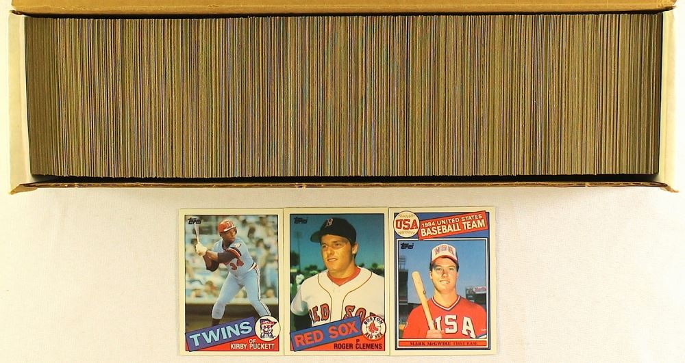 1985 Topps Baseball Complete Set Of 792 Cards With 401