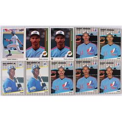 Lot Of 10 Rookie Baseball Cards With Randy Johnson Ken