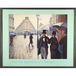 Framed Art CAILLEBOTTE Paris Street Impression POSTER