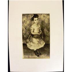 Portrait de Mademoiselle Durand-Ruel Engraving Renoir