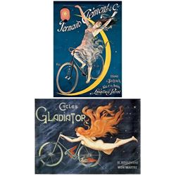 2 Bicycle Posters Clement-Paleologue, Gladiator-Massias