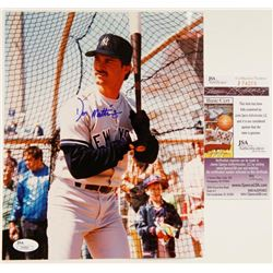 Signed Don Mattingly New York Yankees 8 x 10 Photo COA