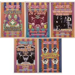 5 Whisky-A-Go-Go LA 1960 Repro Rock Concert Posters