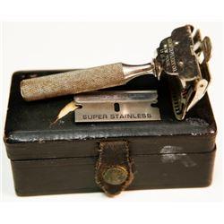 Vintage Gem Cutlery New York Silver Safety Razor Blade