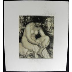 Pierre-Auguste Renoir Bather Wounded Engraving