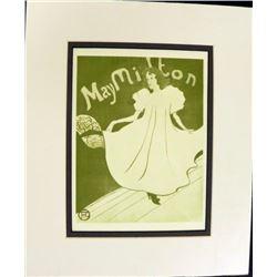 Henri de Toulouse Lautrec May Milton Colored Engraving