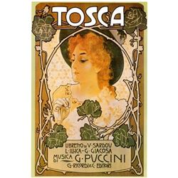 2) Opera Giclees Tosca La Boheme Vintage Advertising