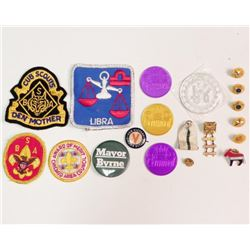 Lot of Vintage Military Pins Boy Scouts Badges Coins