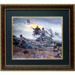 Mort Kunstler Civil War Framed Print Courage in Blue