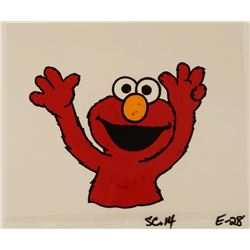 Production Art Cel Original Elmo Shaking Back Red