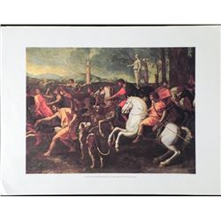 Hunting Meleagro Poussin Lithograph Print Art Spain