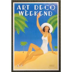 1983 ART DECO WEEKEND Poster of Miami Beach