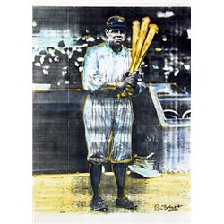 Ron Basca Babe Ruth Baseball Art Print