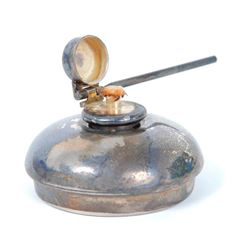 Antique Miniature Silver Plated Kerosene Oil Lamp
