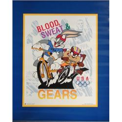 Looney Tunes Bugs Taz Bicycle Race 1996 Olympics Poster
