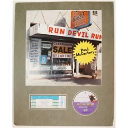 Paul McCartney 1999 Run Devil Run Poster Backstage Pass