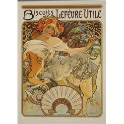 Alphonse Mucha : Biscuits Lefeure-Utile LU Art Print