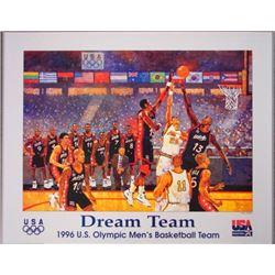1996 Olympics Bart Forbes DREAM TEAM Basketball Poster