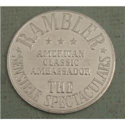 Large Rambler Ambassador Car Medal 1950s