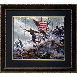 Mort Kunstler Civil War Print Framd Chamberlains Charge
