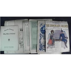 18 Complete Song Books w/ Graphics, Published 1890-1910