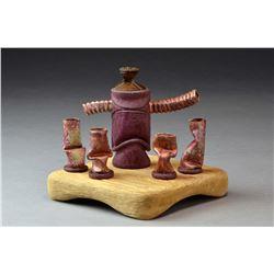 Easter Island Tea Set, by Rick Crawford