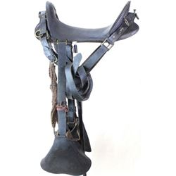 Black McClellan cavalry saddle with old collectors