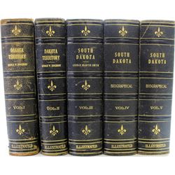 1915 - 5 volume South Dakota history book set