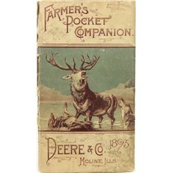 Original 1893 John Deere advertising pocket