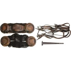 Collection of 4 includes U.S. Military bridle