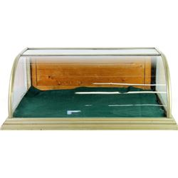 Antique counter top showcase curved glass