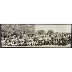 "Original B&W cowboy panoramic inscribed  ""To"
