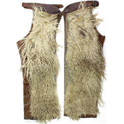 Great West Saddlery wooly chaps Horseshoe