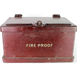 Iron Strong box with original paint and fire proof
