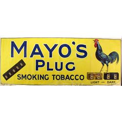 Original advertising banner for Mayos Plug tobacco