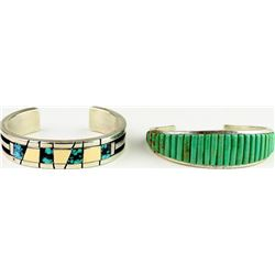 Collection of 2 Navajo bracelets include