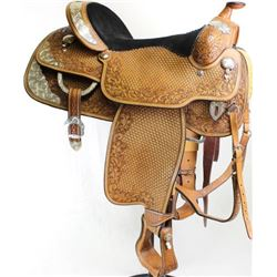 Handmade Longhorn show saddle Greenville