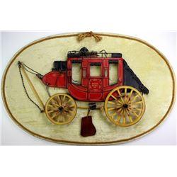 Dale Ford original Wells Fargo stagecoach plaque