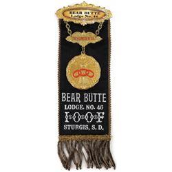 Large reversible ribbon badge C. 1890's