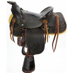 Salesman sample size saddle stamped R.L.