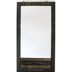 An original Union Cigar Co advertising mirror