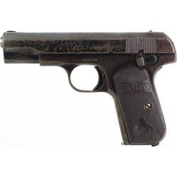 Colt 32 auto SN 262166 pistol, old reblued