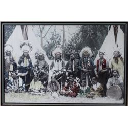 """Large 24"""" X 36"""" photo of Sioux Indians"""