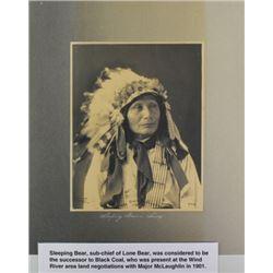 """Fine photo platinum """"Chief Goet to War-Sioux"""""""
