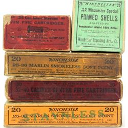 Collection of antique ammo including Peters